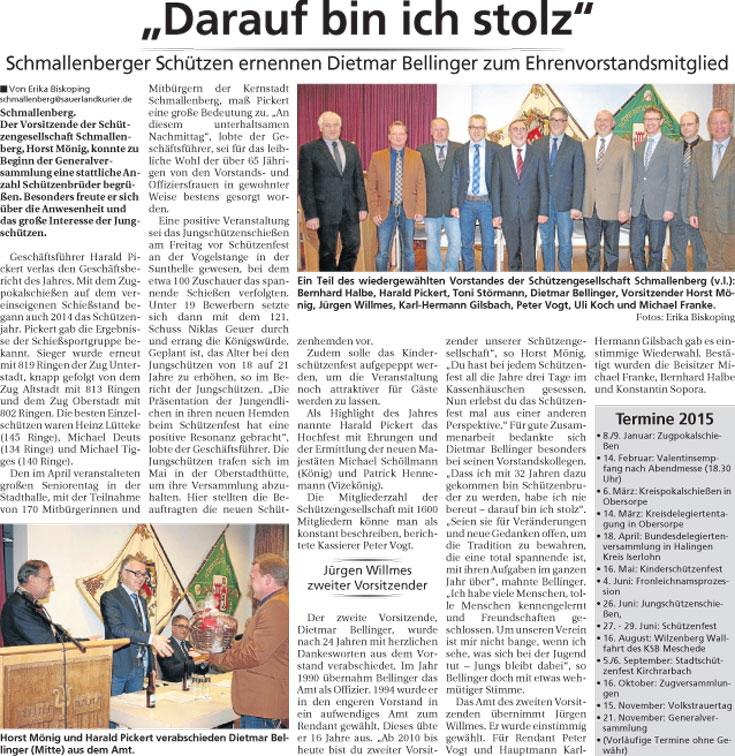 Bericht Generalversammlung